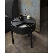 Кофейный столик из массива дуба (1046) в чёрном цвете
