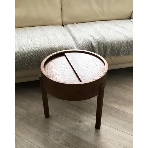 Кофейный столик   из массива дуба и фанеры-4