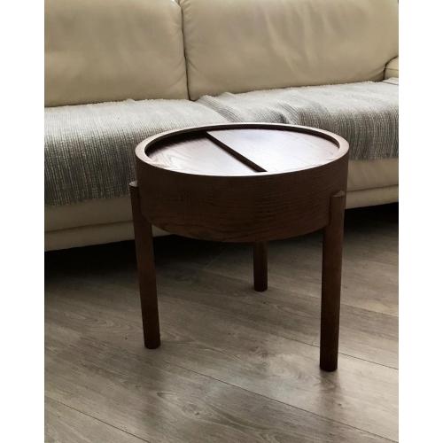 Кофейный столик   из массива дуба и фанеры-5