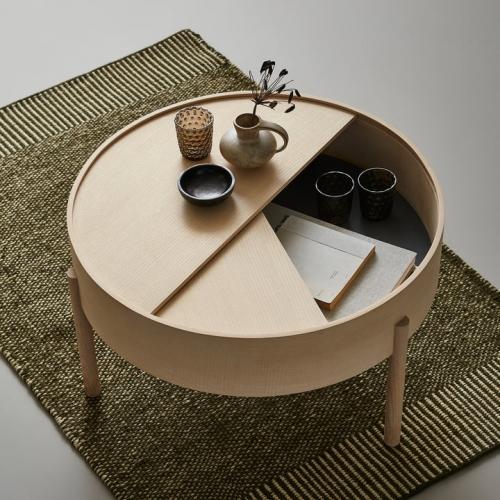 Кофейный столик   из массива дуба и фанеры