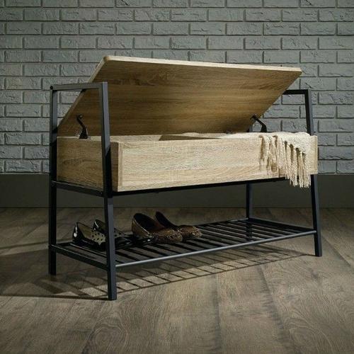 Скамья в прихожую с полкой для обуви (1026)-1