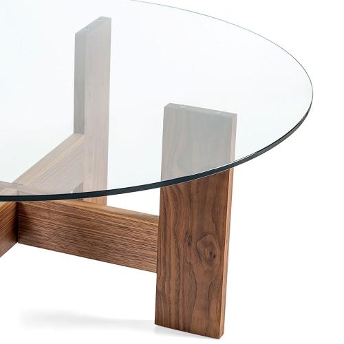 Стол из американского ореха и закаленного стекла (1034)-1